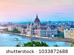 panorama with building of... | Shutterstock . vector #1033872688