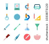 icon laboratory with measuring  ... | Shutterstock .eps vector #1033873120
