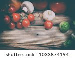 composition with fresh... | Shutterstock . vector #1033874194