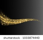 vector eps 10 golden glitter... | Shutterstock .eps vector #1033874440