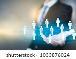 marketing customer target... | Shutterstock . vector #1033876024