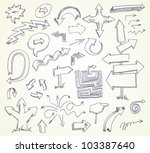 arrow doodles. hand drawn.... | Shutterstock .eps vector #103387640