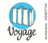 travel backpack. vector hand...   Shutterstock .eps vector #1033877764