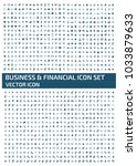 business and financial icon... | Shutterstock .eps vector #1033879633