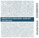 industrial icon design | Shutterstock .eps vector #1033880503