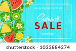 promo web banner template for... | Shutterstock .eps vector #1033884274