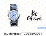 fashionable wrist watch with... | Shutterstock .eps vector #1033893034