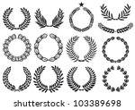 wreath set  laurel  oak  wheat... | Shutterstock .eps vector #103389698