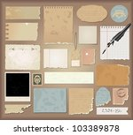 vector set   vintage paper | Shutterstock .eps vector #103389878