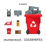 modern red recycle electronic... | Shutterstock .eps vector #1033898953