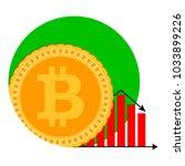 bitcoin money diagram falling... | Shutterstock .eps vector #1033899226