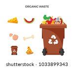 modern brown recycle organic... | Shutterstock .eps vector #1033899343
