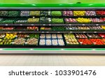 fresh fruits and vegetables on... | Shutterstock . vector #1033901476