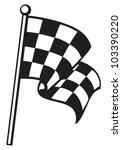 racing checkered flag  | Shutterstock .eps vector #103390220