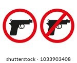 yes or no to gun control. sign... | Shutterstock .eps vector #1033903408