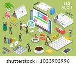 seo audit flat isometric vector ... | Shutterstock .eps vector #1033903996