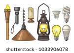 set lighting object. torch ... | Shutterstock .eps vector #1033906078