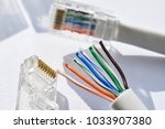 twisting cable tool twisted... | Shutterstock . vector #1033907380