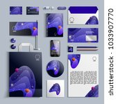corporate identity template in... | Shutterstock .eps vector #1033907770