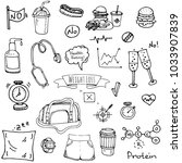 hand drawn doodle weight loss... | Shutterstock .eps vector #1033907839