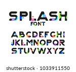 vector of stylish stylized font ... | Shutterstock .eps vector #1033911550