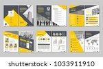 brochure creative design.... | Shutterstock .eps vector #1033911910