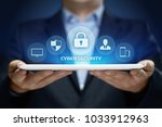 cyber security data protection...   Shutterstock . vector #1033912963