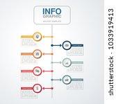 vector infographic template for ... | Shutterstock .eps vector #1033919413