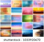 big set of 20 horizontal wide... | Shutterstock .eps vector #1033920670