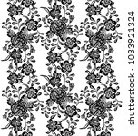 seamless pattern with vintage... | Shutterstock .eps vector #1033921324