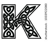 letter of the english alphabet... | Shutterstock .eps vector #1033922080