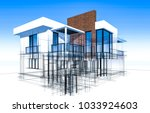 house building architecture 3d... | Shutterstock . vector #1033924603