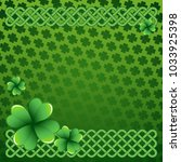 rich green saint patrick's day... | Shutterstock .eps vector #1033925398