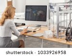 engaged in work. the back view... | Shutterstock . vector #1033926958
