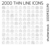 exclusive 2000 thin line icons... | Shutterstock .eps vector #1033932190