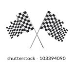 checkered flags isolated over... | Shutterstock .eps vector #103394090