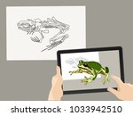 augmented reality. ar. the... | Shutterstock .eps vector #1033942510