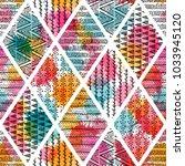 seamless pattern. patchwork.... | Shutterstock .eps vector #1033945120