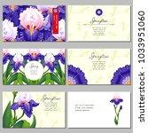 set of six horizontal business... | Shutterstock .eps vector #1033951060