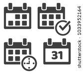 set of calendar icons. vector... | Shutterstock .eps vector #1033952164
