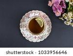old style rustic  vintage tea... | Shutterstock . vector #1033956646