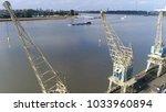 aerial photo of three harbor... | Shutterstock . vector #1033960894