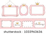 set of cute doodle mirrors.... | Shutterstock .eps vector #1033963636