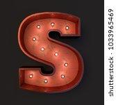 illuminated marquee light bulb... | Shutterstock . vector #1033965469