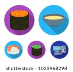 bowl of soup  caviar  shrimp...   Shutterstock .eps vector #1033968298