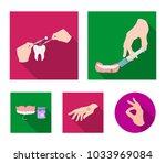 anesthetic injection  dental... | Shutterstock .eps vector #1033969084
