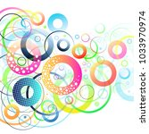colorful circles abstract... | Shutterstock .eps vector #1033970974