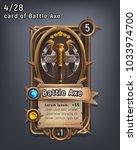 card of fantasy battle axe... | Shutterstock .eps vector #1033974700