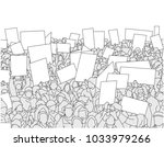 illustration of large crowd of... | Shutterstock .eps vector #1033979266