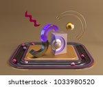 3d rendered abstract stadium... | Shutterstock . vector #1033980520